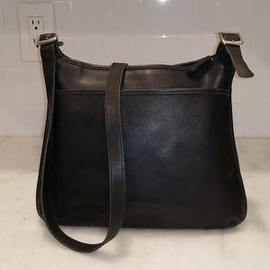 Coach Vintage Black Leather Saddle Bag